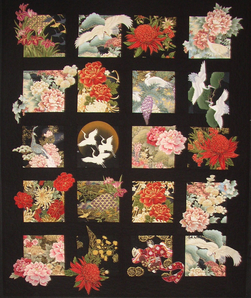 20 Asian Blocks Plus Quilt Pattern Great For Large Scale