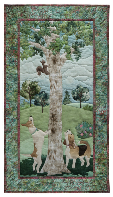 Mckenna Ryan Quilt Pattern Dog Park 2 Thrill Of The Chase Squirrel